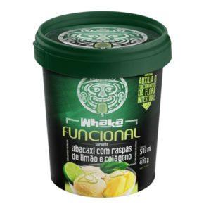 Sorvete de abacaxi com raspas de limão e colágeno – 500g