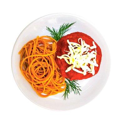Polpettone-Spaghetti